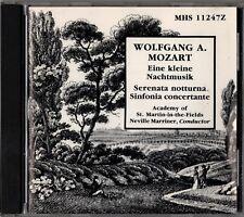 """MARRINER """"MOZART: EINE KLEINE NACHTMUSIK"""" CD 1988 mhs"""