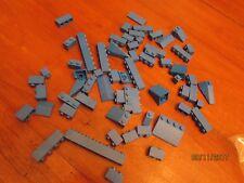 Lego 64 pc brick blue lot 1x2, 1x4 slope 1x1 1x3 roof angle 1x6 1x8 building