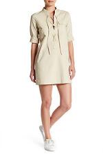 Theory Juliettah Lace-Up Shift Dress 10 NWT $295