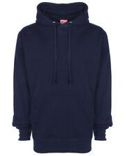 Size XXL FDM Unisex Navy Blue Plain Hooded Top Hoodie Hoody Sweatshirt Work Wear
