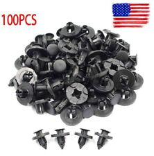 100 pcs 8mm Plastic Rivet Fastener  Bumper Fender Push Clips For Nissan Infiniti