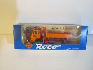 Roco #1652 HO 1:87 Scale Steyr 91 Kipper Miniatur Model Truck with Crane NIB