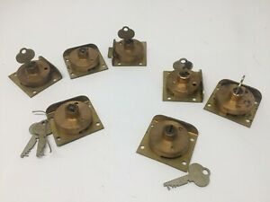 Vintage E.H Sheldon Furniture Cabinet Desk Drawer Locks single or keyed alike