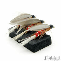 3, 6 or 12x Red Spinner Wet Trout Flies for Fly Fishing