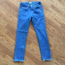 Naked And Famous Rich Blue Stretch Skinny Guy Cut Off Jeans Womens 29