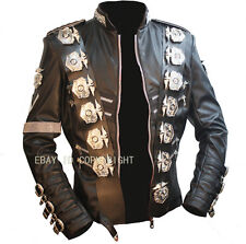 MJ MICHAEL JACKSON BAD TOUR SPECIAL OFFICER CLASSIC LEATHER JACKET OUTERWEAR