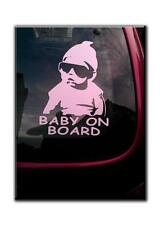 BABY ON BOARD COOL KID CAR WINDOW STICKER DECAL