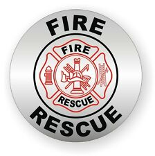 Fire - Rescue Hard Hat Decal / Helmet Sticker Firefighter Squad Emergency Rescue