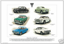 CLASSIC ROVER  P4, P5 & P6 - Fine Art Print - 1949-77 Luxury British Saloon Cars