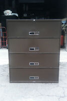 "FILE CABINET 4 DRAWER LATERAL 42"" We have Lots of Files We Deliver Locally CA"