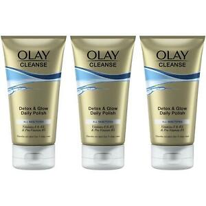 3 x Olay Cleanse Detox & Glow Daily Exfoliating Polish Gentle for All Skin Types