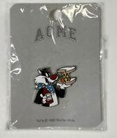 "Vintage, ACME: ""Sylvester The Cat And Tweety Bird Sandwich"" Enamel Pin, 1995"