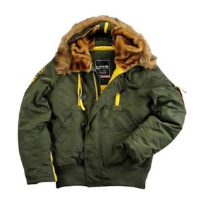 Alpha Industries PPS N2B Jacket Men's Olive Green Yellow Sportswear Outwear