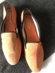 Genuine Ladies Tods Casual Orange Shoes Size 38
