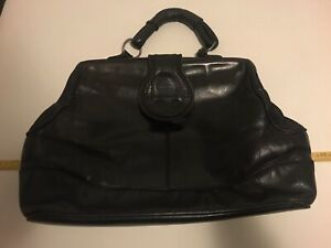 """Vintage """"Merkur"""" Leather Doctors Bag. In Excellent Condition For It's Age."""
