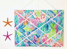 New Memo board made with Lilly Pulitzer PB New Mermaid Cove fabric