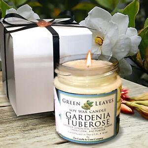 Soy Candle, Gardenia Tuberose, Handmade, 4oz. Highly Scented, AMAZING FRAGRANCE!