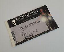 Whitney Houston Ticket Stub(s) London 26/04/10 Unused Tickets & Memorabilia