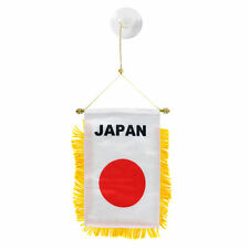 Japan Japanese Mini Banner Flag Car & Home Window Mirror Hanging 2 Sided