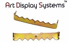 Art Display Systems 100 No Nail Sawtooth Picture Hangers - 1 3/4 Inch - Brass