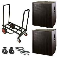"DAS Action 118A 18"" Powered/Active 3200W Subwoofer Package + Cart"