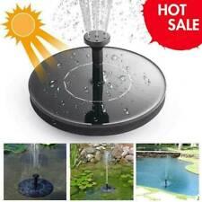 Solar Powered Floating Pump Water Fountain Birdbath Garden Pool Decor Home R8D8