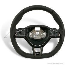 SKODA VRS Octavia Fabia Superb Steering Wheel w. Silver Stitching 5E0419091AQHTS