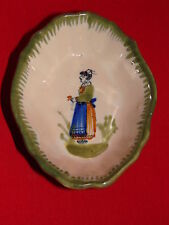 ANCIEN VIDE POCHE EN FAIENCE HENRIOT QUIMPER / COUPELLE CERAMIQUE