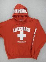Deerfield Beach Florida LIFEGUARD Midweight Beach Hoodie Sweatshirt (Mens XXL)