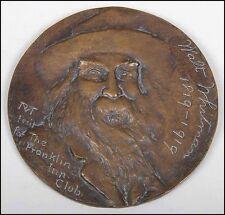 Walt WHITMAN (Poet): Bronze Medallion by Robert Tait McKenzie