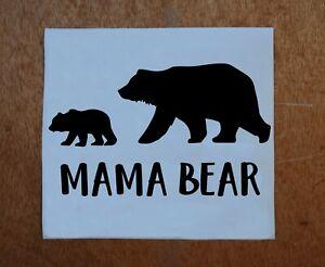 "Mama Bear Vinyl Decal - sticker, car window, laptop, cup - color choice - 5"""