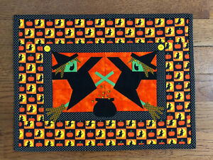 New Handmade Original Quilted Witch Halloween Table Runner or Wall Hanging