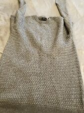Mens Small Next Knitted Jumper Grey