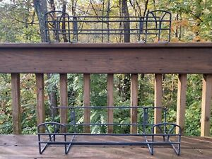 VINTAGE COUNTRY WROUGHT IRON HANGING WINDOW, PORCH PLANTER