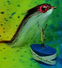 """PIKE FLY - full flash red/pearl baitfish 6/0 circle 7/8""""inch made in scotland"""