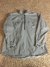 Vtg Carhartt Barn, Chore Coat Shirt Long Sleeve Jacket Mens Size L