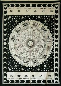 Tapestry Astrology Cotton Wall hanging Poster Geometric Zodiac decor Throw Hippy