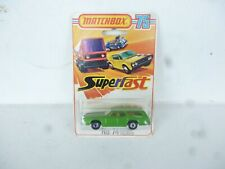 Matchbox Superfast #74 Mercury Cougar Wagon Green NOC New On Card