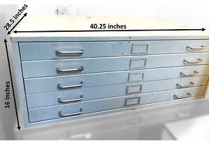 steel storage drawers (flat file)