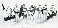 """Star Wars 3.75"""" Animated Clone Wars 41ST ELITE CORPS Trooper Army Builder Lot"""