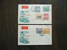 1953 ANTIGUA SET OF 2 FIRST DAY COVERS.