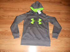 New Misses Size XS Gray UNDER ARMOUR Coldgear Hoodie 1275262-090