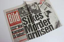 BILDzeitung 03.08.1989 August 3.8.1989 Geschenk 31. 32. 33. 34. Geburtstag