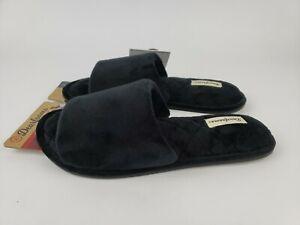 Dearfoams Beatrice Microfiber Velour Side Gore Slide Womens Slippers Casual 9-10