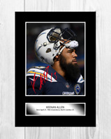 Keenan Allen 2 NFL Los Angeles Chargers photograph poster choice of frame
