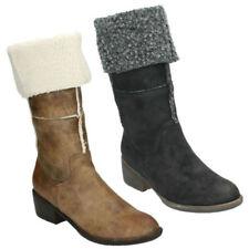 stivali al ginocchio da donna Spot On tacco medio ( 3,9-7 cm )