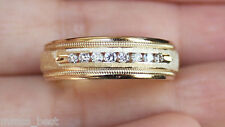 New Kay Jeweler 14K Size 10 1/4ct Diamond Milgrain Mens Wedding Band Ring Gold