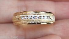New Kay Jeweler 14K Size 10 1/4ct Diamond Milgrain Mens Wedding Band Ring Gold
