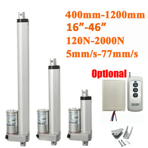 12V Linear Actuator Motor 400mm 800mm 1000mm 120/2000N High Speed Remote Control