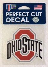"Ohio State Buckeyes 4"" x 4"" Logo Truck Car Auto Window Die Cut Decal Team Colors"